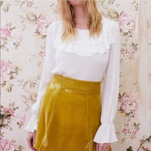 For Love and Lemons Claire Ruffle Blouse